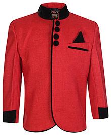 Little Bull Full Sleeves Jacket - Red