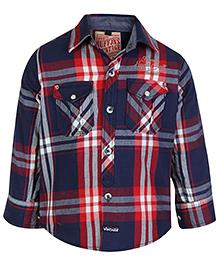 Ruff Full Sleeves Shirt And T-Shirt - Check Print