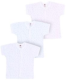 Zero Half Sleeves Vests - Set Of 3
