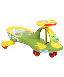 Toyzone Magic Swing Car Ride On - Green - All Over Dimension - 30 X 38 X 40 Cm