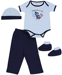 Babyhug Multi Piece Set Navy Blue - Set of 4