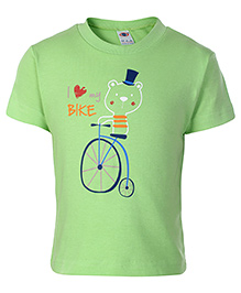 Zero Half Sleeves T-Shirt - I Love My Bike Print