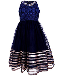 Doll Sleeveless Party Dress - Embroidered And Stone Work
