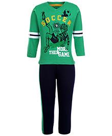 Babyhug Full Sleeves T-Shirt With Full Length Pant - Green