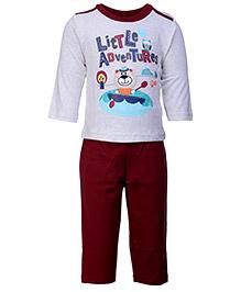 Zero Full Sleeves T-Shirt And Legging Set