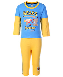 Paaple Doctor Sleeves T-Shirt And Leggings - Bears Academy