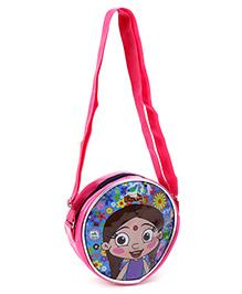 Chhota Bheem Round Cross Sling Bag Pink And Blue - Chutki Design