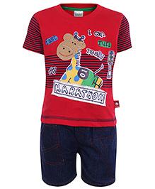 Babyhug Half Sleeves T-Shirt And Short Set