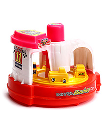Lovely Push N Spin Racing Car - Multi Colour