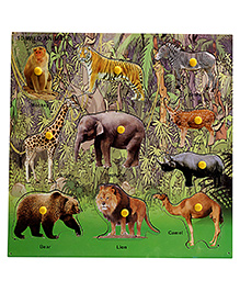 Lovely Wooden Cutout Puzzle - Animals