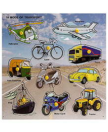 Lovely Wooden Cutout Puzzle - Transport