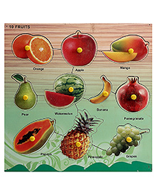 Lovely Wooden Cutout Puzzle - Fruits