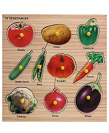 Lovely Wooden Cutout Vegetable Tray - 10 Vegetables