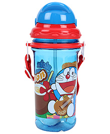 Doraemon Sipper Water Bottle - Blue And Red