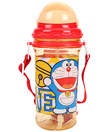 Doraemon Sipper Water Bottle - Cream And Red
