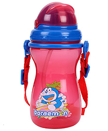 Doraemon Sipper Water Bottle - Red And Blue