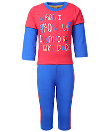 Paaple Doctor Sleeves T-Shirt And Legging Set