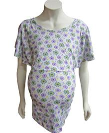 Mama & Bebe Nursing Top Floral Print - Lavender