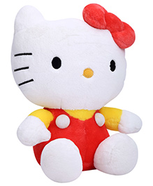 Dimpy Stuff Kitty With Bow Red - Height 36 cm