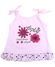 Babyhug Singlet Frock Baby Pink - Floral Print