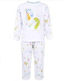 Ollypop Full Sleeves Night Suit - Jungle Rock Band