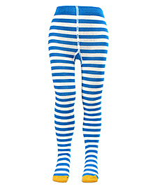 Mustang Footed Tights Blue - Stripes Print