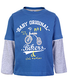 Ollypop Doctor Sleeves T-Shirt - Bikers Print - 18 To 24 Months