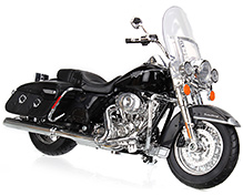 Maisto Harley Davidson Motorcycle - Black And Silver