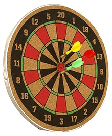 Wood O Plast Wooden Dart Board Set - Multi Color