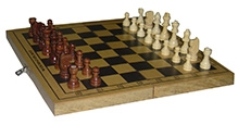 Wood O Plast Wooden Chess Box Set - Black And Brown