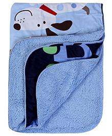 Babyhug Blanket Animals Print - Blue
