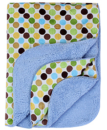 Babyhug Blanket Multicolor - Dotted Print