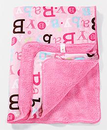 Babyhug Blanket Baby Boy Print - Pink