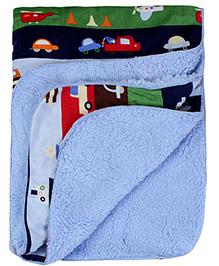 Babyhug Blanket Multicolor - Vehicle Print