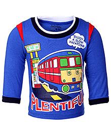 Babyhug Full Sleeves T-Shirt - Vacation Bus Print