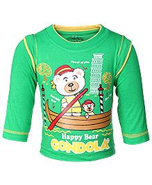 Babyhug Full Sleeves T-Shirt - Teddy Bear Print