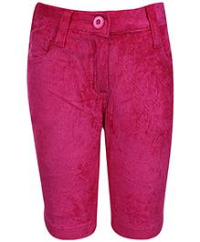 Babyhug Corduroy Capri - Pink