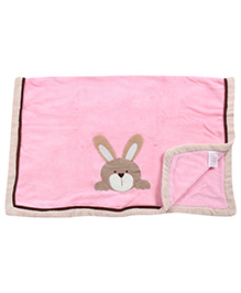 Babyhug Baby Blanket Bear Face Patch - Pink