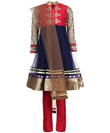 Doll Full Sleeves Kurta And Churidaar With Dupatta - Sequin And Diamond Work