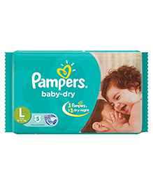 Pampers Baby Diaper Large - 5 Pieces