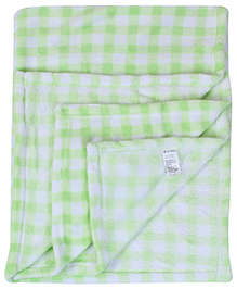 Babyhug Baby Blanket Love You Embroidery - Green