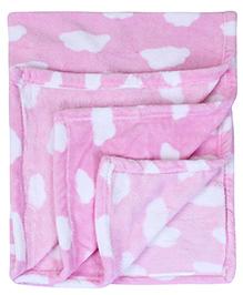Babyhug Baby Blanket Sweet Baby Embroidery - Pink