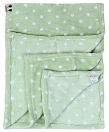 Babyhug Baby Blanket Monkey And Zebra Patch - Green