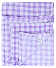 Babyhug Baby Blanket Floral Patch - Purple