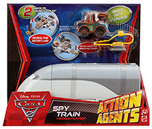 Disney Pixar Cars Spy Train Actions Agents - White And Brown
