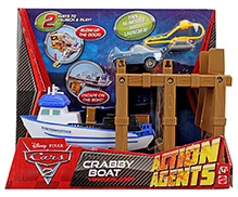 Disney Pixar Cars Crabby Boat - White And Brown
