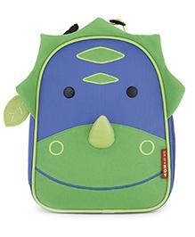 Skiphop Zoo Backpack Green N Blue - Dinosaur Design