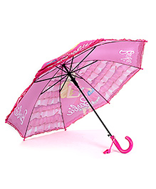 Barbie Kids Umbrella Printed - Dark Pink