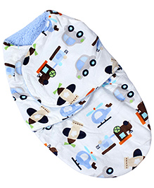 Babyhug Baby Swaddle Wrap Blanket - Vehicle Print