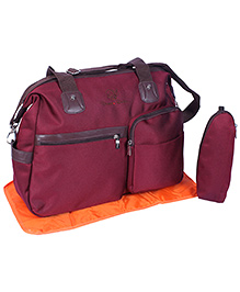 Fab N Funky Mother Bag Set Dream Baby Embroidery - Maroon